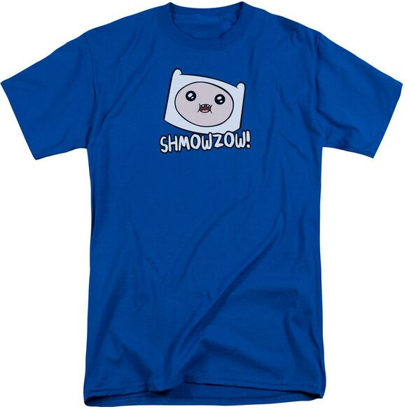 Adventure Time Shmowzow Short Sleeve Adult Tall Royal T-Shirt