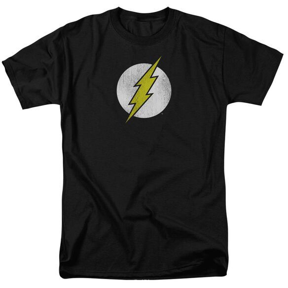 DC FLASH FLASH LOGO DISTRESSED - S/S ADULT 18/1 - BLACK T-Shirt