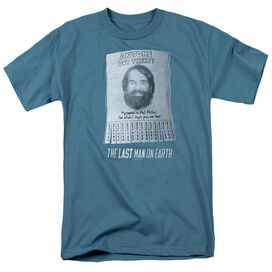 Last Man On Earth Anyone Out There Short Sleeve Adult Slate T-Shirt