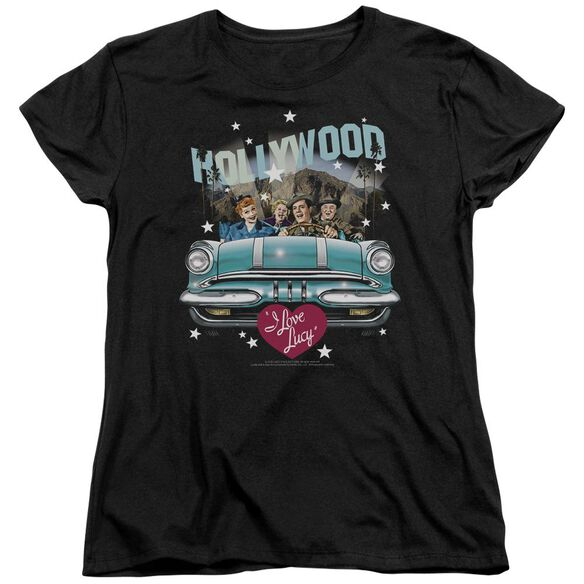 I Love Lucy Hollywood Road Trip Short Sleeve Womens Tee T-Shirt
