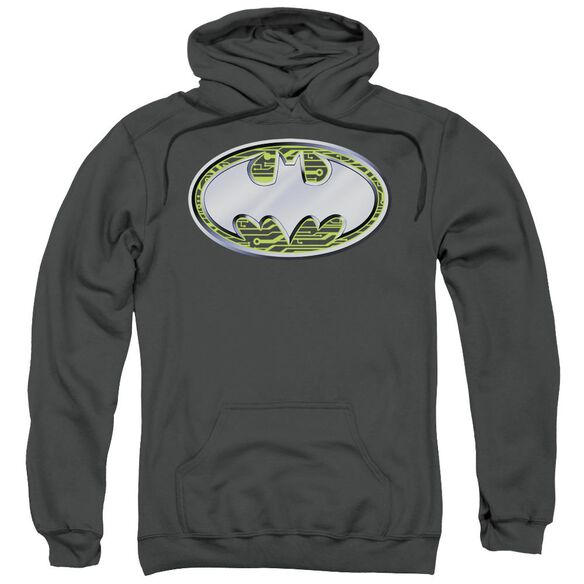 Batman Circuits Logo Adult Pull Over Hoodie