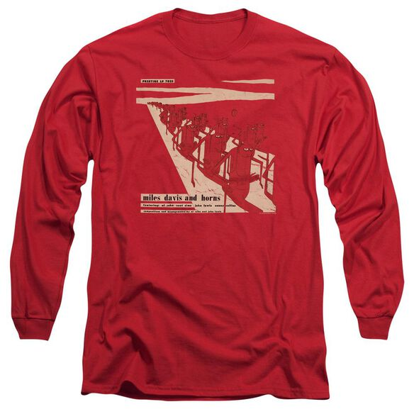 Miles Davis Davis And Horn Long Sleeve Adult T-Shirt