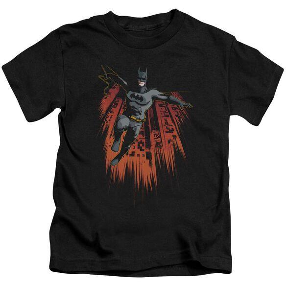 BATMAN MAJESTIC - S/S JUVENILE 18/1 - BLACK - T-Shirt