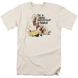 Mirrormask Important Man Short Sleeve Adult Cream T-Shirt
