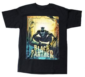 Black Panther Velvet Patch T-Shirt