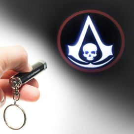 Assassins Creed Black Flag Flashlight Keychain