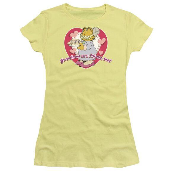 Garfield Don't Forget Grandma Short Sleeve Junior Sheer T-Shirt