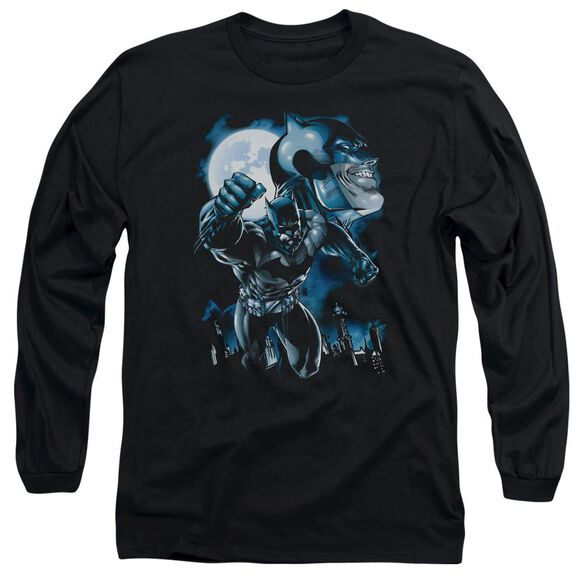 Batman Moonlight Bat Long Sleeve Adult T-Shirt