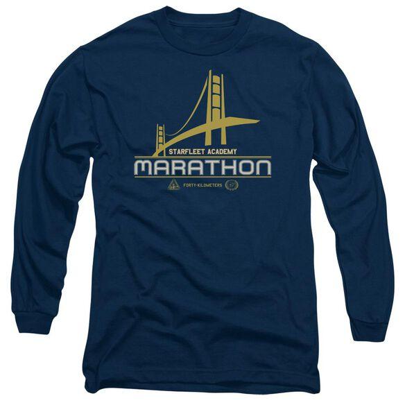 Star Trek Marathon Logo Long Sleeve Adult T-Shirt
