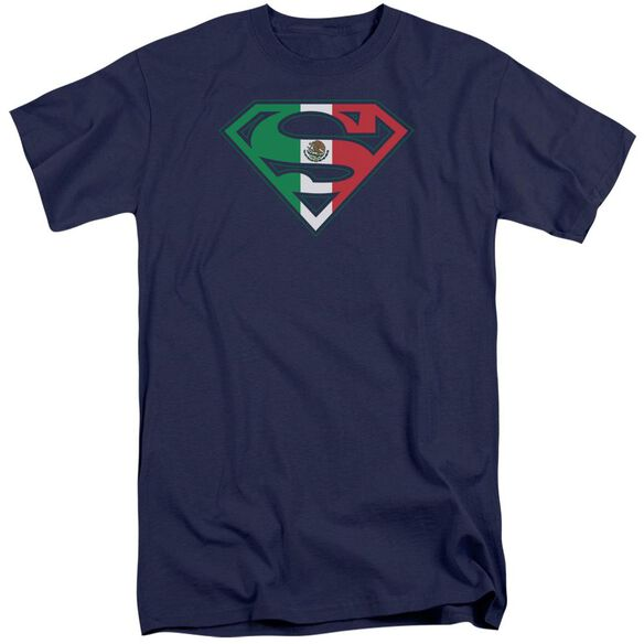 Superman Mexican Shield Short Sleeve Adult Tall T-Shirt