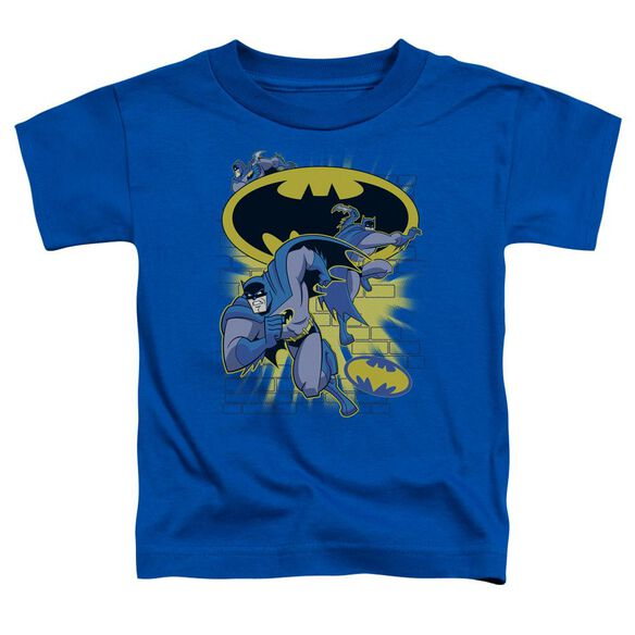 Batman Bb Action Collage Short Sleeve Toddler Tee Royal Blue Lg T-Shirt