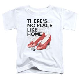 Wizard Of Oz No Place Like Home Short Sleeve Toddler Tee White T-Shirt