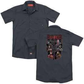 Justice League Movie League Of Six (Back Print) Adult Work Shirt
