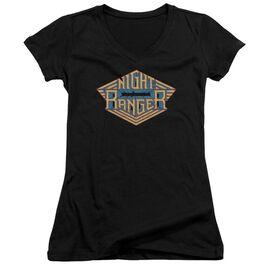 Night Ranger Logo Junior V Neck T-Shirt