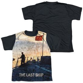 Last Ship Searching Short Sleeve Youth Front Black Back T-Shirt