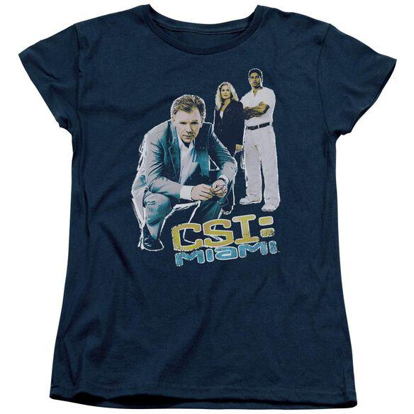Csi:Miami In Perspective Short Sleeve Womens Tee T-Shirt