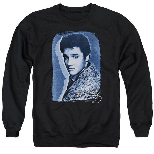 Elvis Overlay Adult Crewneck Sweatshirt