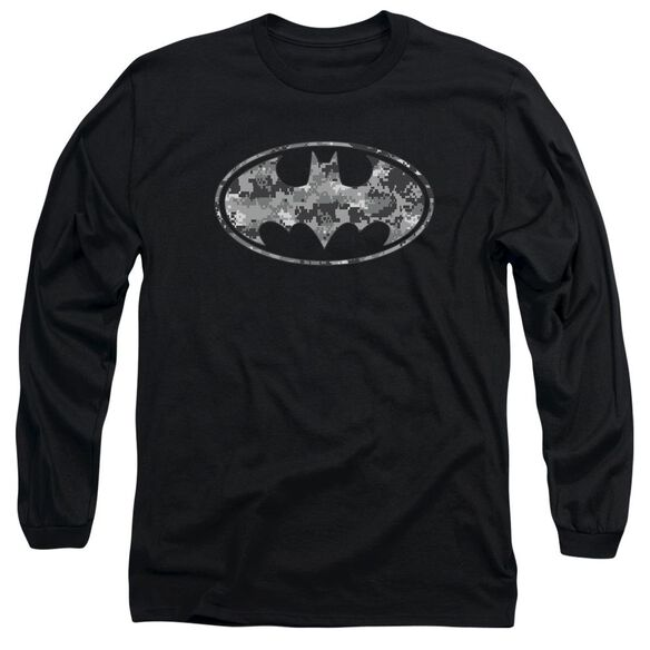 Batman Urban Camo Shield Long Sleeve Adult T-Shirt