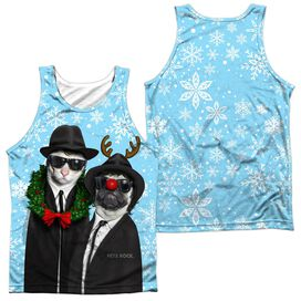 Pets Rock Blue Christmas (Front Back Print) Adult Poly Tank Top