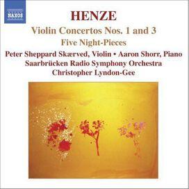 Peter Sheppard Skærved - Henze: Violin Concertos Nos. 1 and 3; Five Night Pieces