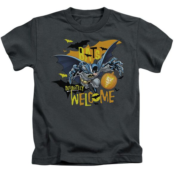 Batman Bats Welcome Short Sleeve Juvenile Charcoal T-Shirt