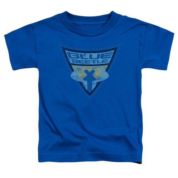 Batman Bb Blue Beetle Shield Short Sleeve Toddler Tee Royal Blue Lg T-Shirt