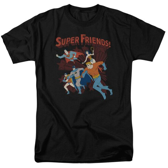 Dc Super Running Short Sleeve Adult T-Shirt