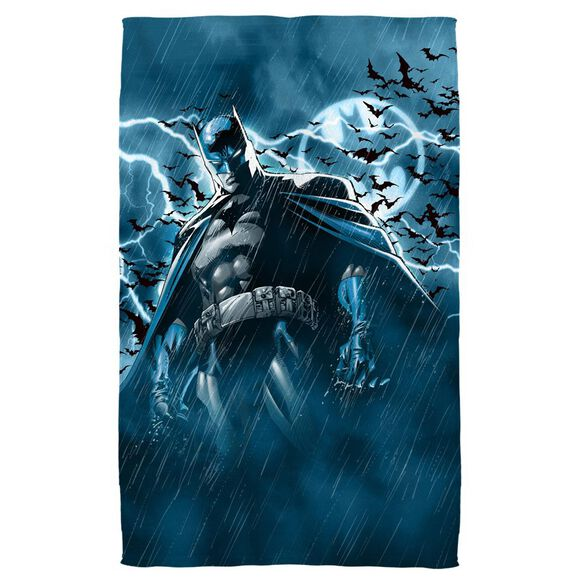 Batman Stormy Knight Golf Towel White Face