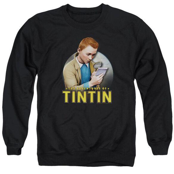 Tintin Looking For Answers Adult Crewneck Sweatshirt
