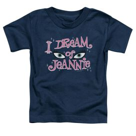 I Dream Of Jeannie Eyes Short Sleeve Toddler Tee Navy T-Shirt