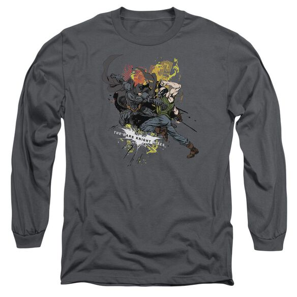 Dark Knight Rises Fight For Gotham Long Sleeve Adult T-Shirt
