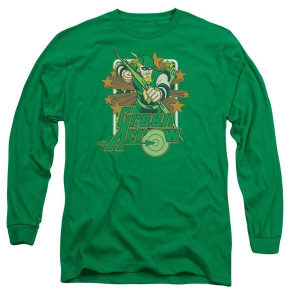 Dc Arrow Stars Long Sleeve Adult Kelly T-Shirt