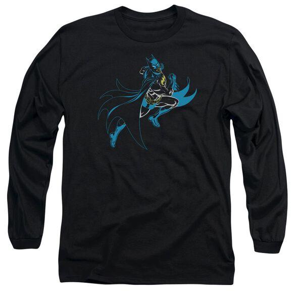 Batman Neon Batman Long Sleeve Adult T-Shirt