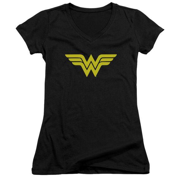 Dc Wonder Woman Logo Junior V Neck T-Shirt