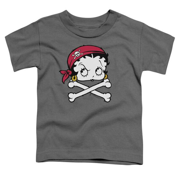 Betty Boop Pirate Short Sleeve Toddler Tee Charcoal Md T-Shirt