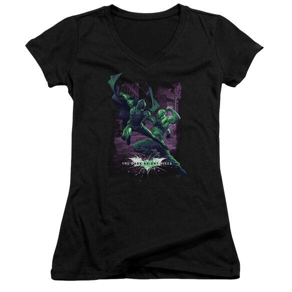 Dark Knight Rises Bat Vs Bane Junior V Neck T-Shirt