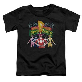 Power Rangers Rangers Unite Short Sleeve Toddler Tee Black T-Shirt