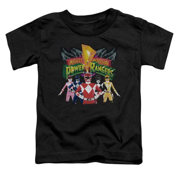 Power Rangers Rangers Unite Short Sleeve Toddler Tee Black T-Shirt
