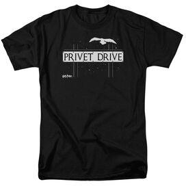 Harry Potter Privet Drive Short Sleeve Adult Black T-Shirt