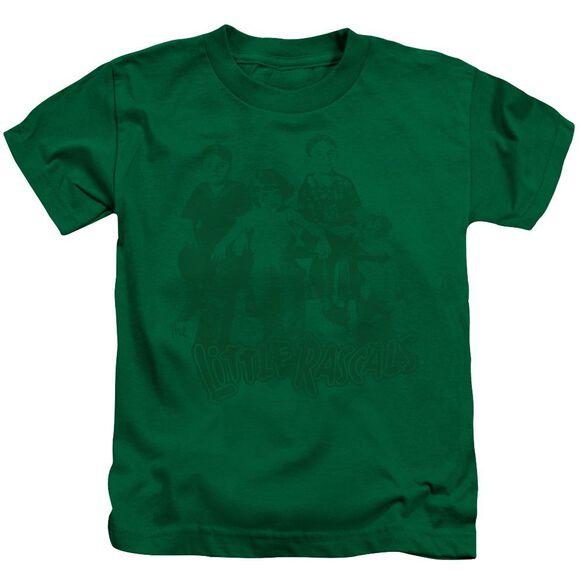 Little Rascals The Gang Short Sleeve Juvenile Kelly Green T-Shirt