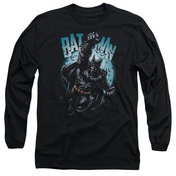 Batman Moon Knight Long Sleeve Adult T-Shirt