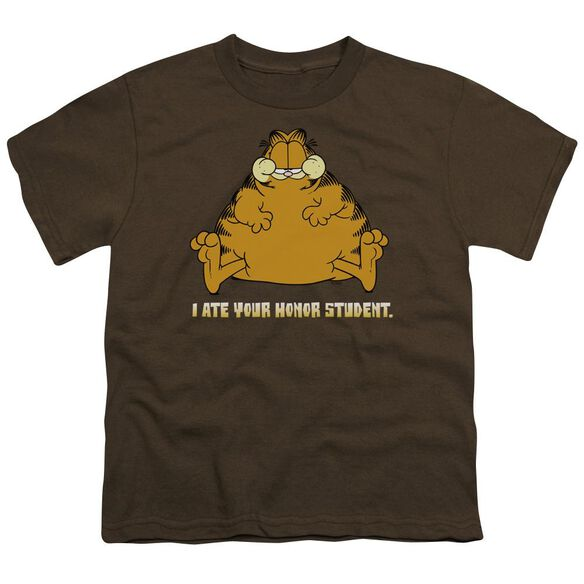 Garfield I Ate Your Honor Student Short Sleeve Youth T-Shirt