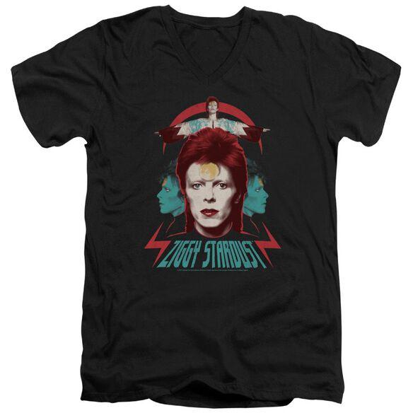 David Bowie Ziggy Heads Short Sleeve Adult V Neck T-Shirt