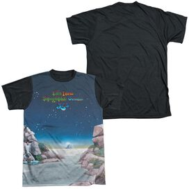 Yes Topographic Oceans Short Sleeve Adult Front Black Back T-Shirt