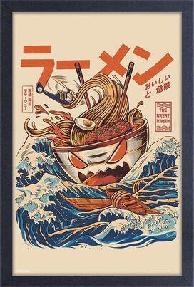 """Great Wave Off Kanagawa Ramen Wall Art 11"""" x 17"""""""