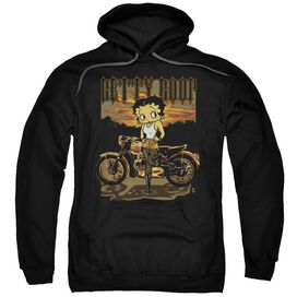 Betty Boop Rebel Rider Adult Pull Over Hoodie