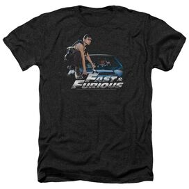 Fast And The Furious Car Ride - Adult Heather - Black