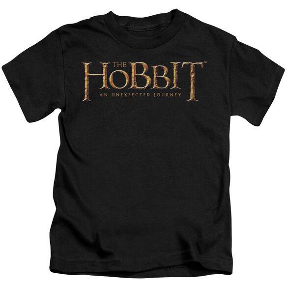 The Hobbit Logo Short Sleeve Juvenile Black T-Shirt