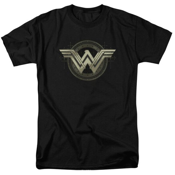 Batman V Superman Ancient Emblems Short Sleeve Adult Black T-Shirt