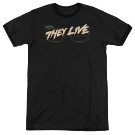 They Live Glasses Logo Adult Heather Ringer